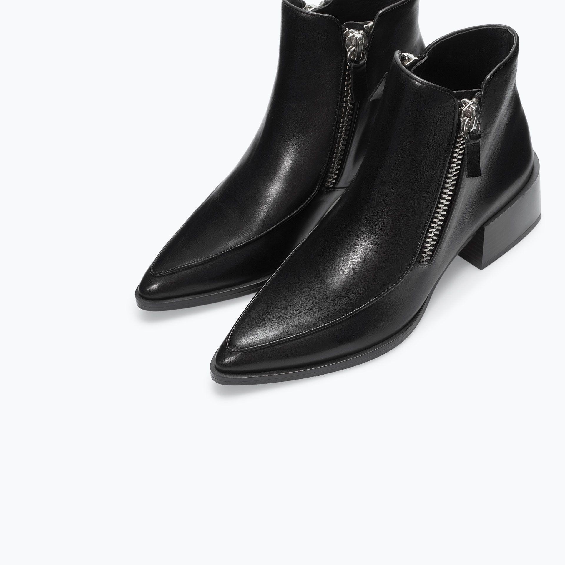 Schwarze Stiefel mit Reißverschluss RhkCd0