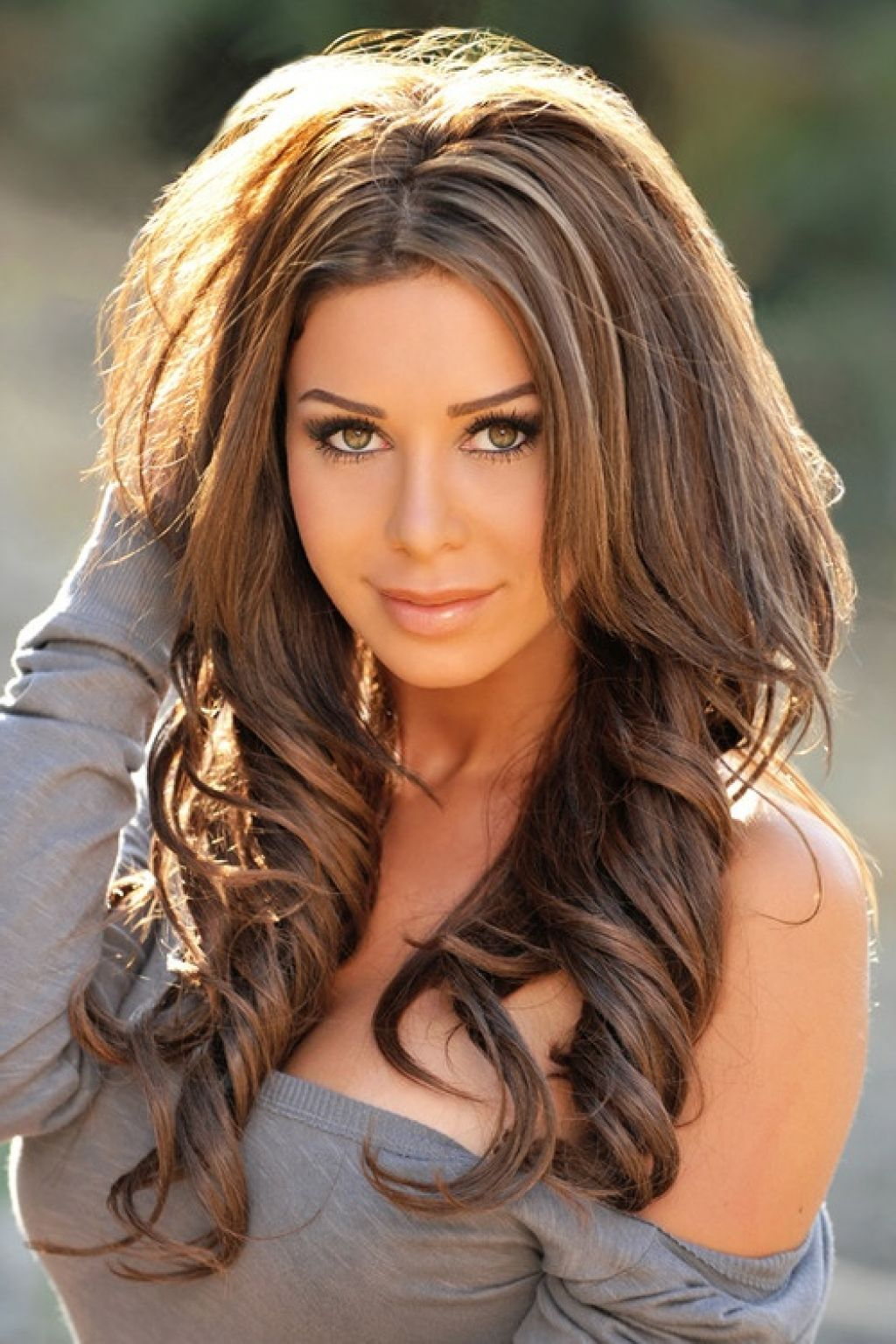 Dark Brown Hair With Caramel Highlights Makeup And Hair
