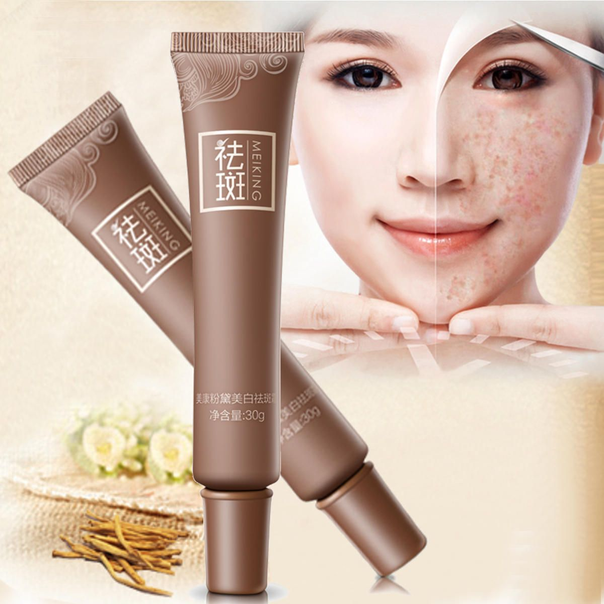 Age spot melasma remove freckle face cream whitening lightening skin