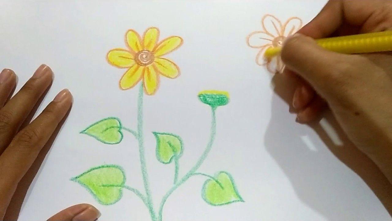 Gambar Bunga Yang Gampang