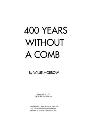The Original 400 Years Without A Comb Book. Apartment Guide ...