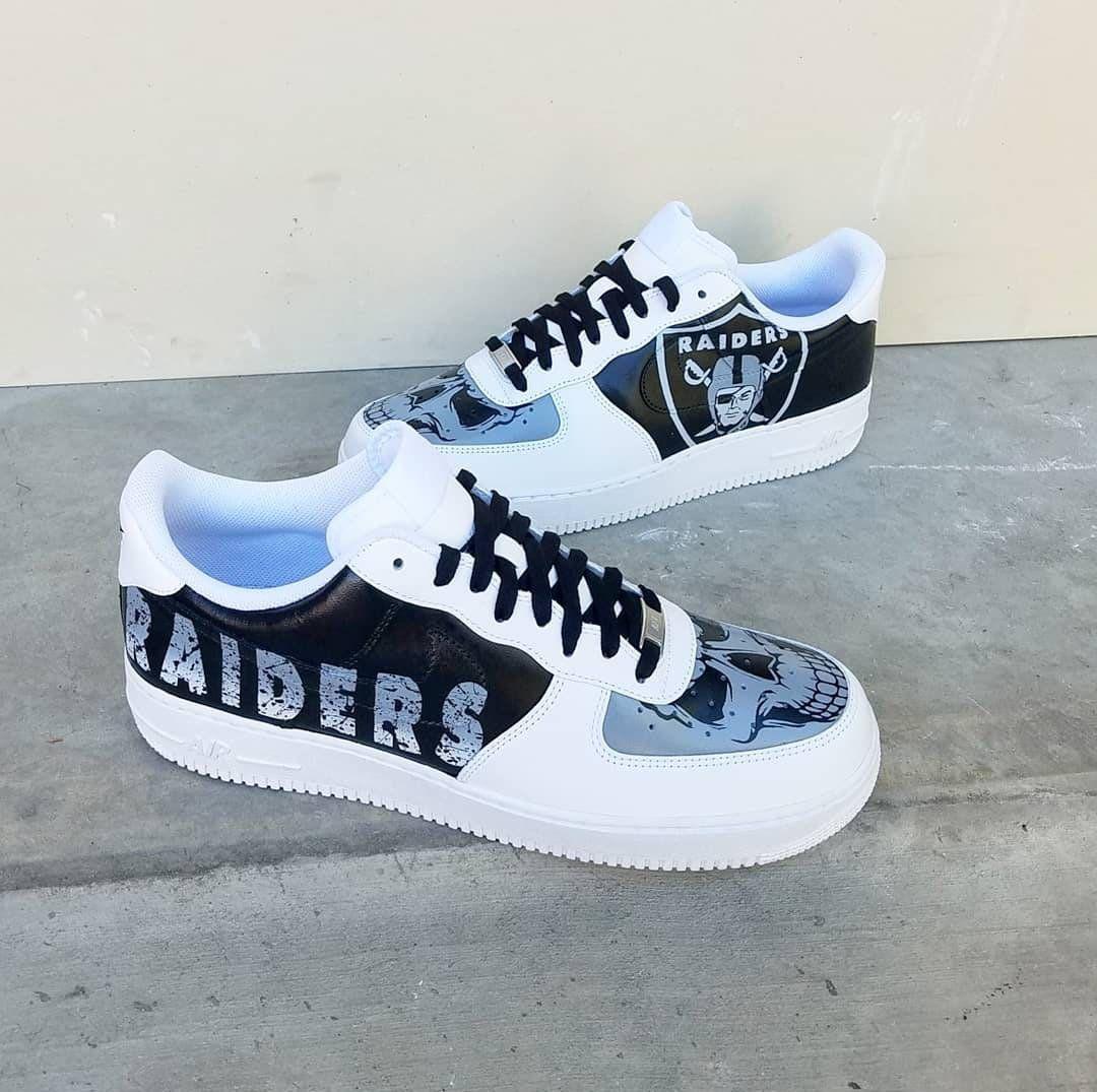 Custom Raiders Nike Air Force 1 Low image 1 in 2020 Nike
