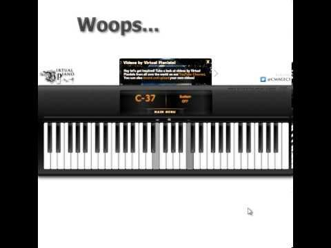 Play piano using your computer keys! River Flows In You   Virtual