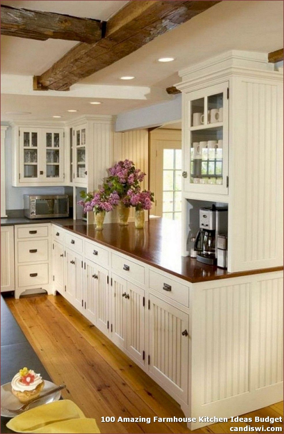 100 Amazing Farmhouse Kitchen Ideas Budget To Make The