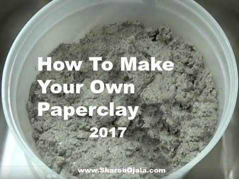 Homemade Obsessions: Homemade Paper-Clay VIdeo Update 2017