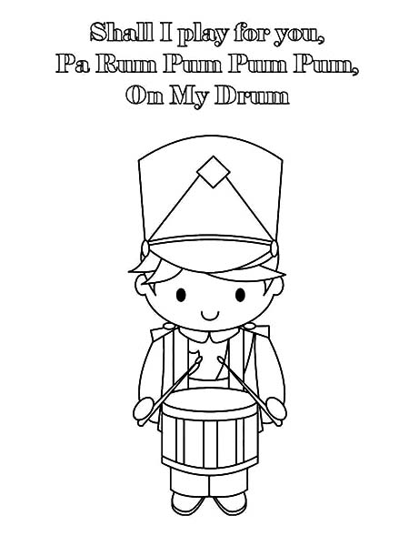 Drummer Boy Play Drum For You Coloring Pages Kids Play Color
