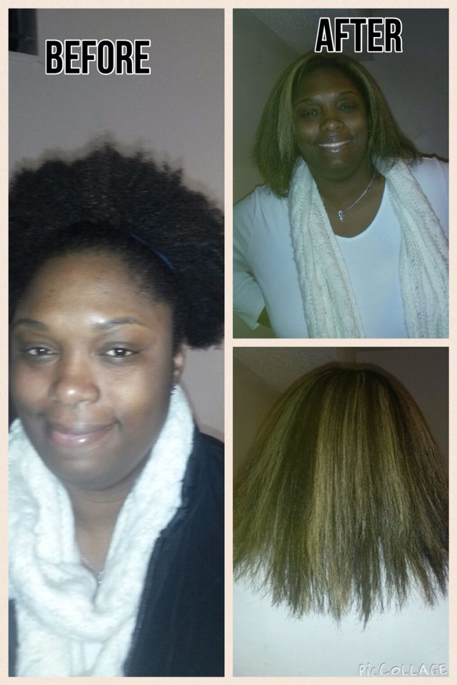 My Natural Hair With A Dominican Blowout And Blonde Highlights I Love My Hair Natural Hair Styles Blonde Highlights Hair Styles