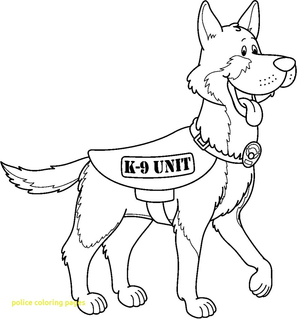 K 9 Police Dog Coloring Pages Download