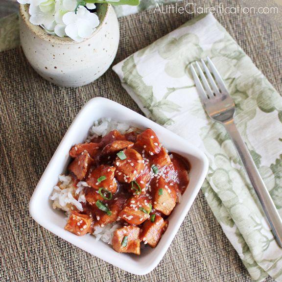 Simple Chicken Crock Pot Recipes Healthy: Healthy & Easy Crock Pot Sesame Chicken