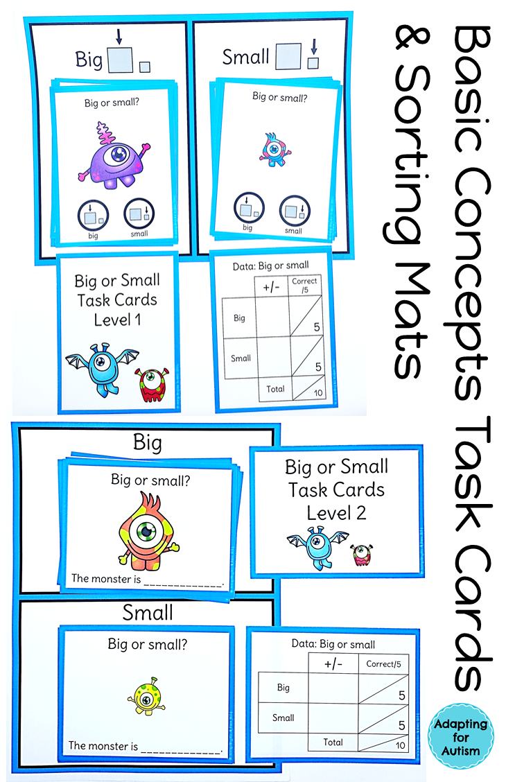 Halloween Task Cards: Basic Concepts for Special Education and ...