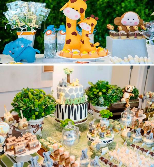 mesas de dulces para baby shower de animalitos buscar con google