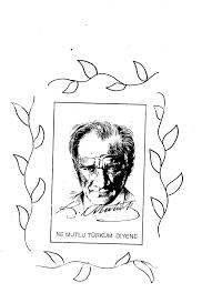 Ataturk Silueti Boyama Ile Ilgili Gorsel Sonucu Boyama Sayfalari Gorsel Sanatlar Sanat