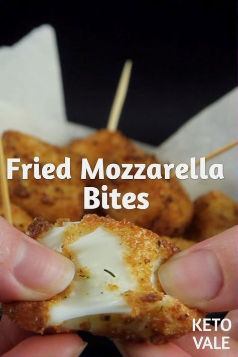 Keto Fried Mozzarella Bites Low Carb Appetizer Rec