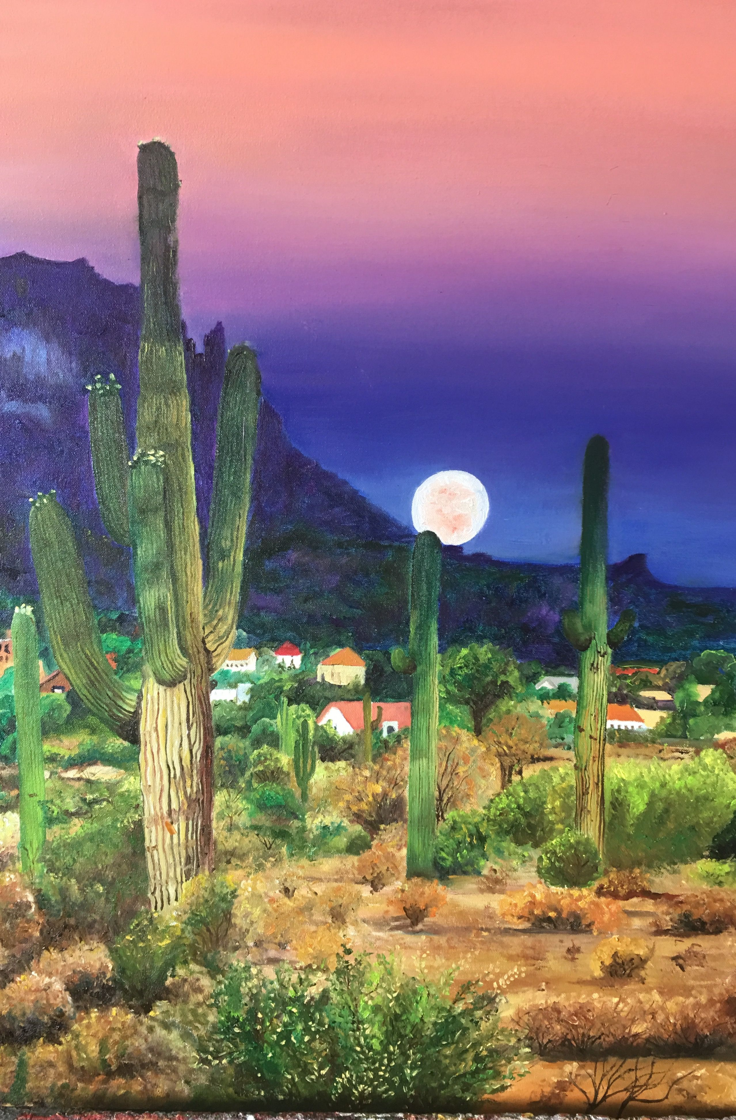 The desert. Oil on canvas. 60X70 by Elena torres