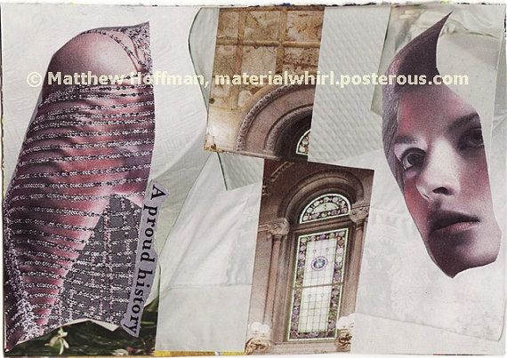 A PROUD HISTORY by MaterialWhirlCollage, paper collage for frame or notecard, $5.00