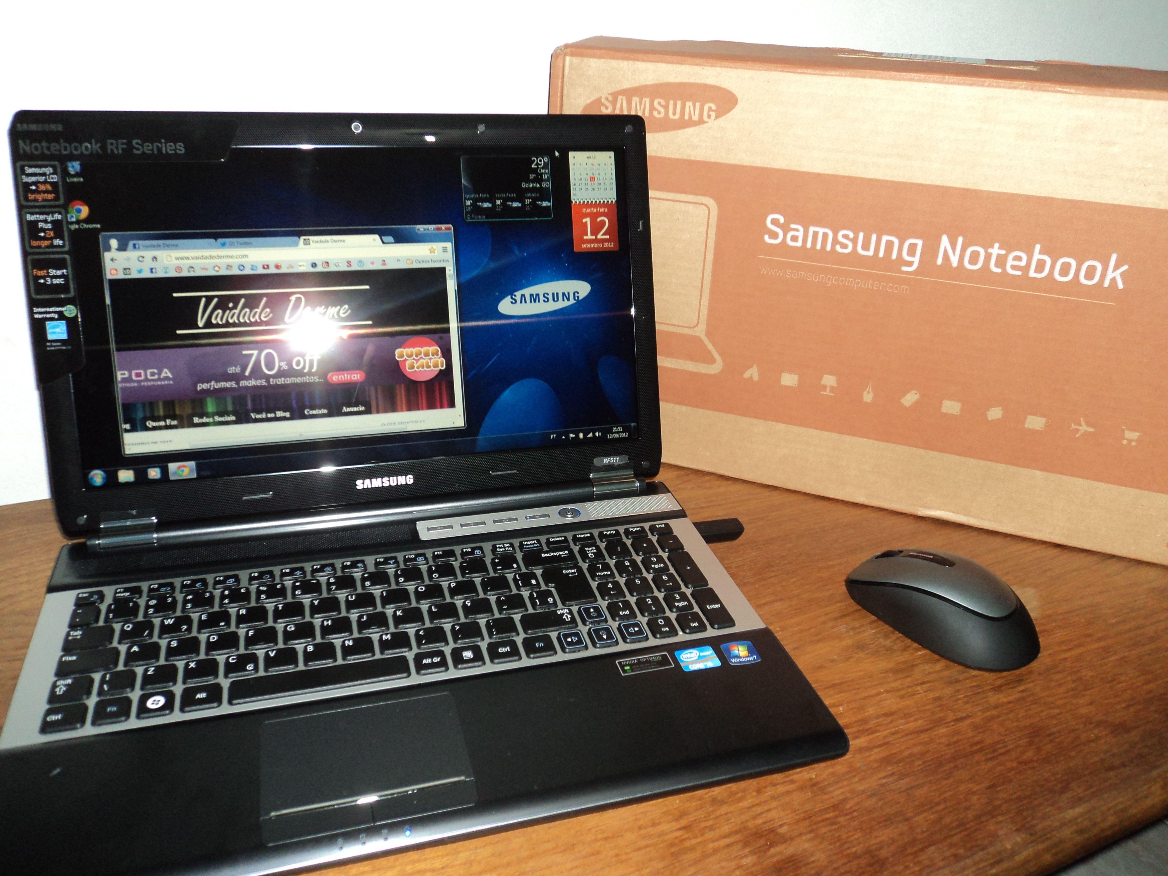 Notebook samsung i5 - Chegou Meu Notebook Samsung Rf511 Sd6 Com Intel Core I5 6gb 1tb Led 15