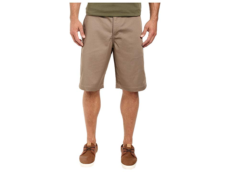 RVCA Americana Short Dark Khaki Mens Shorts Show your nostalgic side with this RVCA Americana Short Polycotton blend provides comfort throughout the day Belt loop waist B...