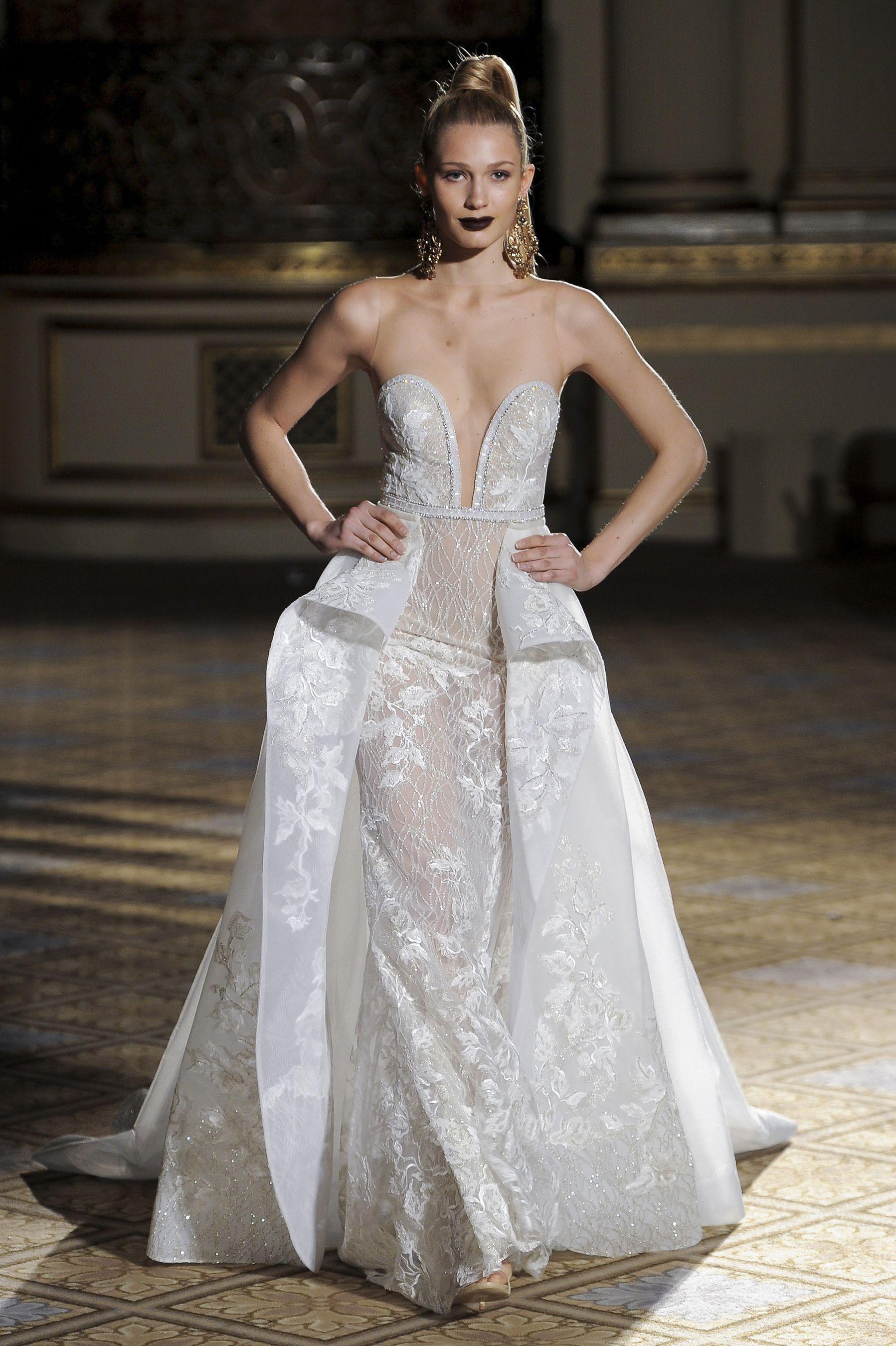 Lightweight wedding dresses  Berta Bridal Spring  Bridal Fashion Show  Mermaid gown and