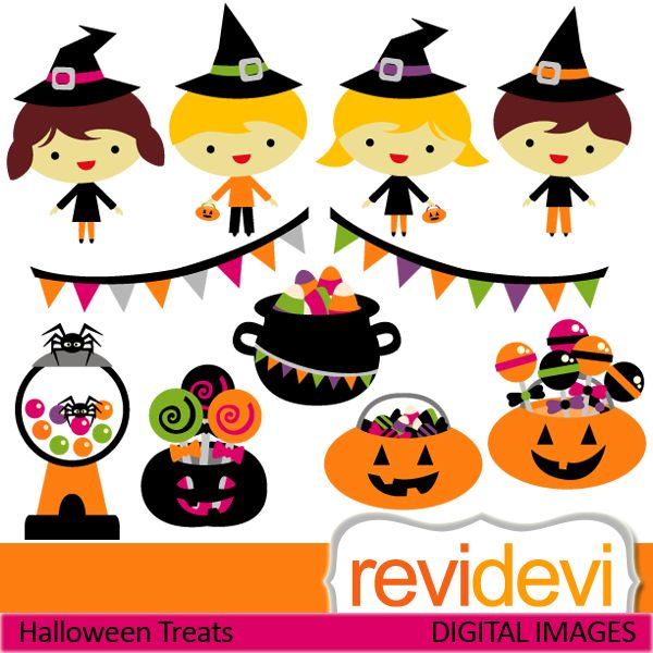 cute halloween cliparts kids banners sweets and pumpkins these rh pinterest com Trcik or Treat Clip Art Friday the 13th Clip Art