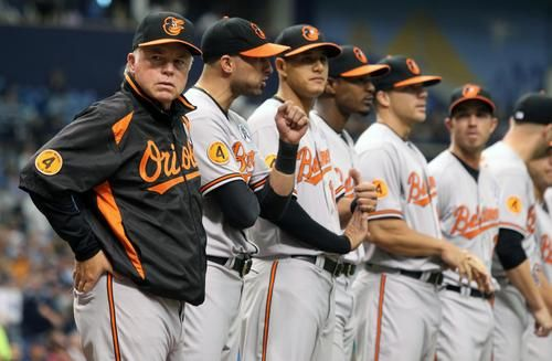 Lining Up For Game Time Baltimore Orioles Orioles Mlb
