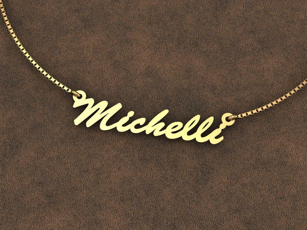 Gargantilha nome em Chapa de ouro, corte a laser   Render   Pinterest 95f4cc2ca3