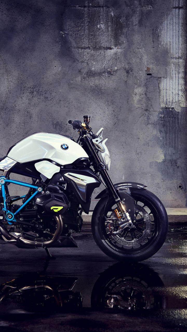 BMW concept Roadster, bike, basement, 720x1280 wallpaper