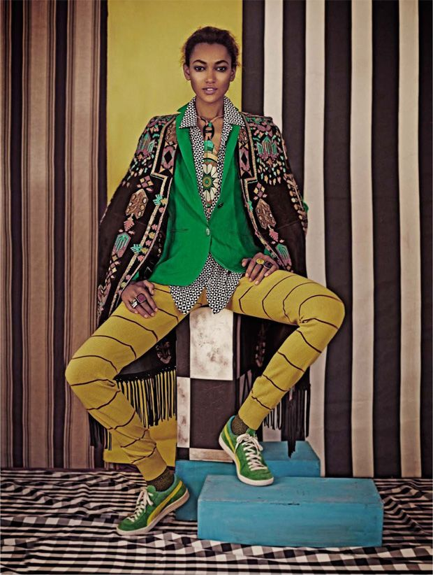 Play With Patterns and Prints. African Fashion in Vanity Fair Italia Aprile 2014.