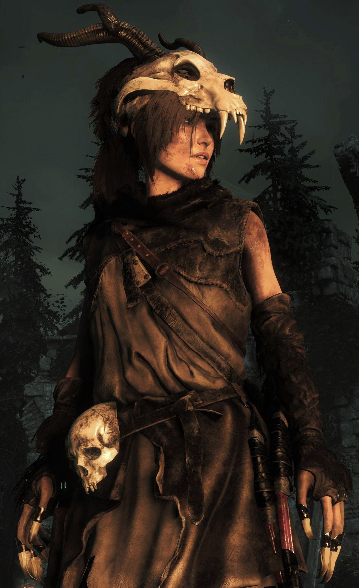 Lara croft in baba yaga tomb raider cosplay computerspiele e