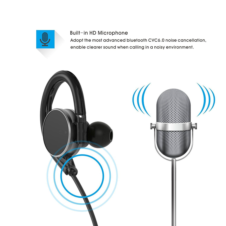 AVWOO Bluetooth 4.0 Wireless Sport Headphones