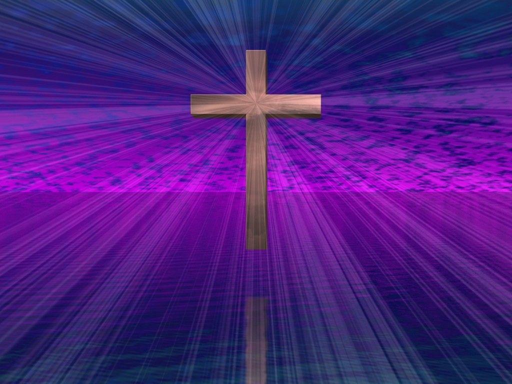 Jesus Is My Lord And Savior Christian Wallpaper Purple Cross Cross Background
