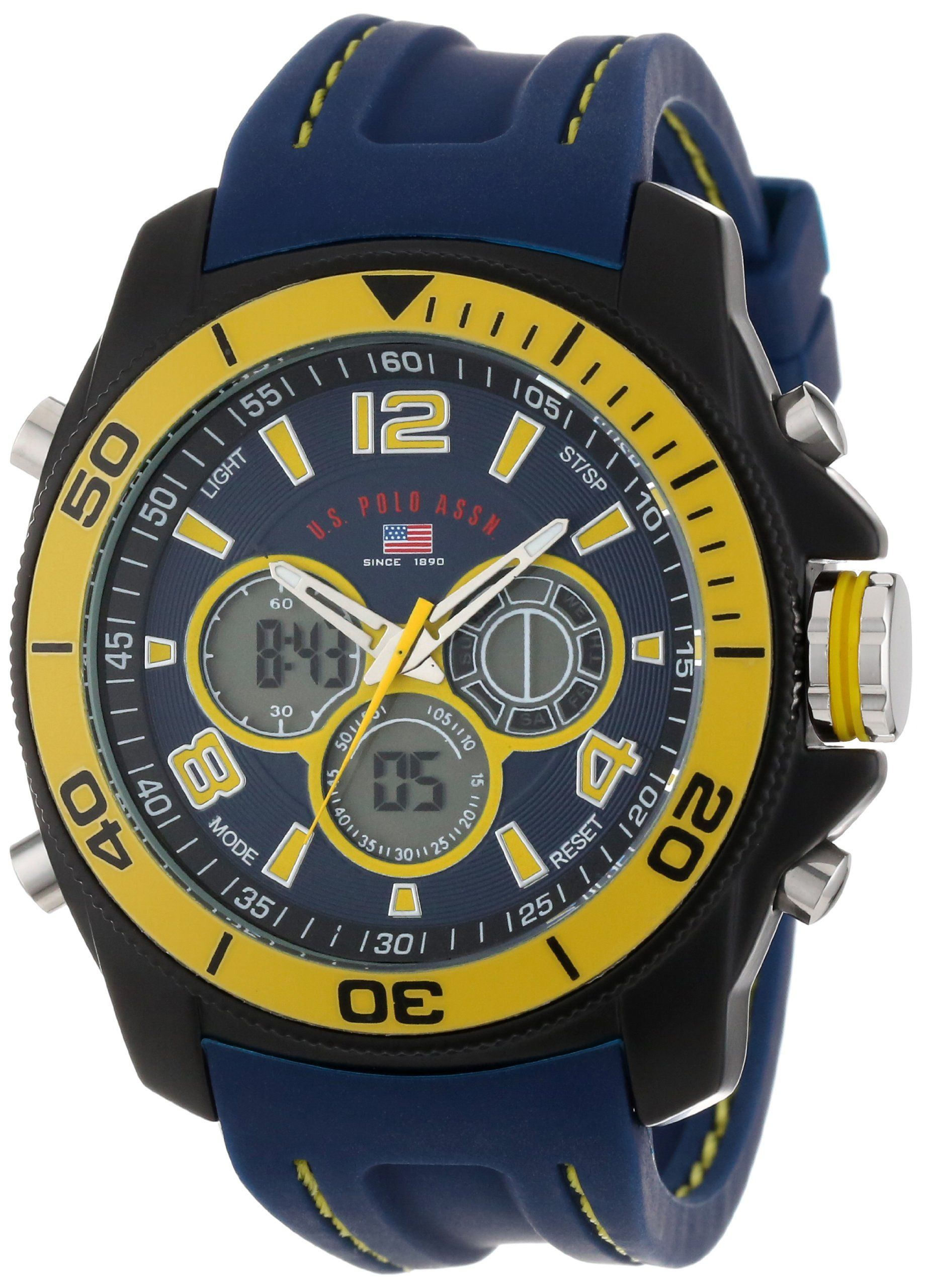 U S Polo Assn Sport Men S Us9322 Sport Watch With Navy Rubber Band Sport Watches Watches For Men Best Kids Watches