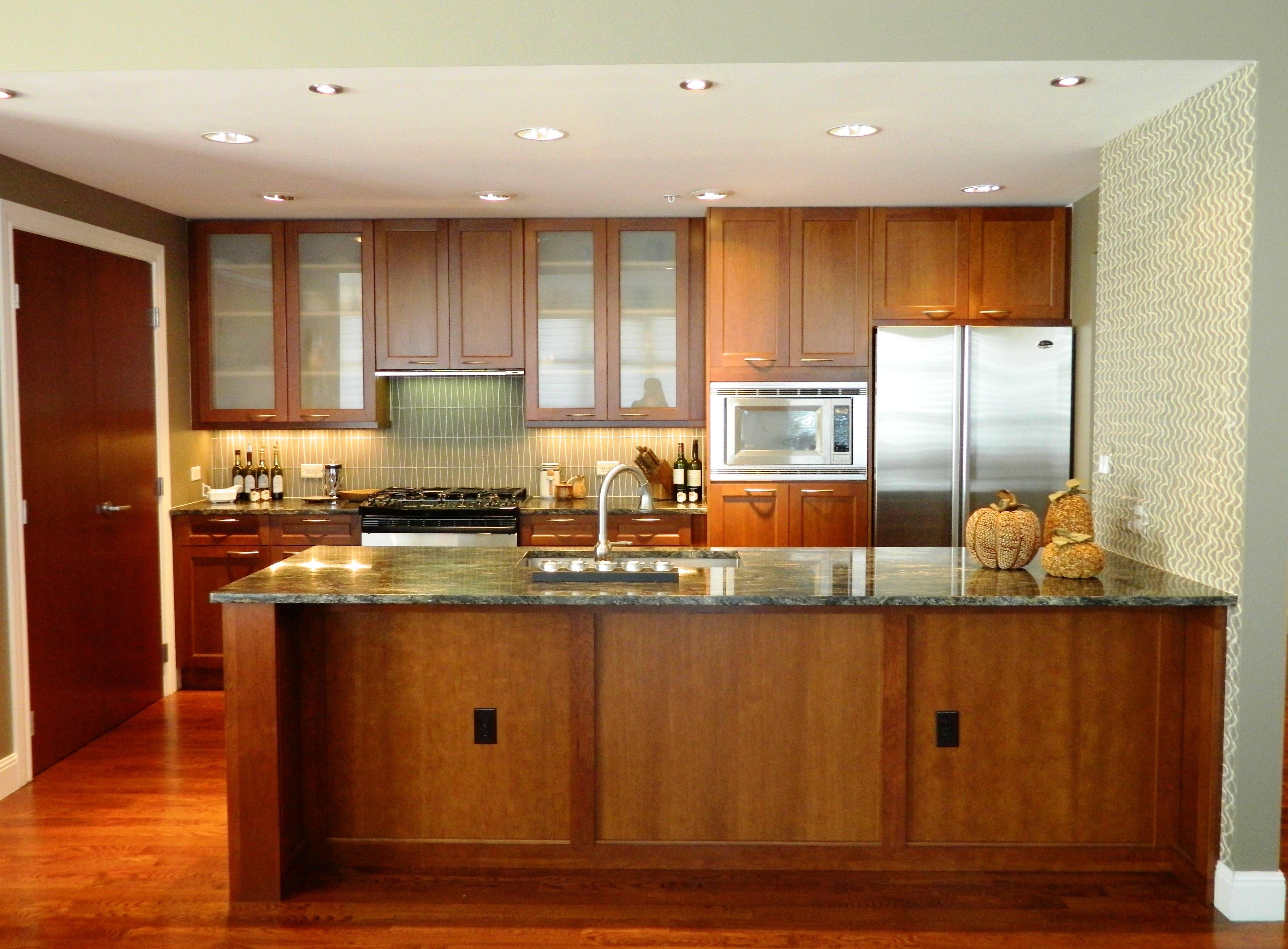Image result for honey oak cabinets modern kitchen cherry ...