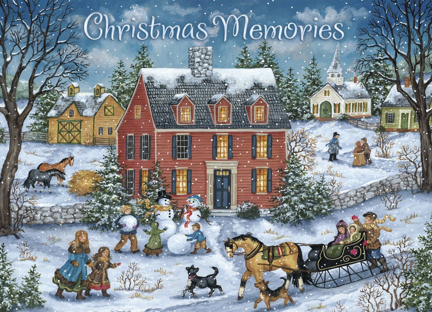 Legacy Deluxe Boxed Christmas Cards, Hitching A Ride, 20-Count ...