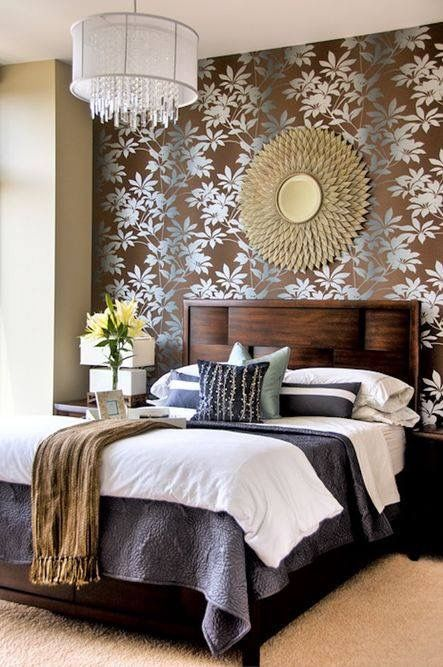 Genial Master Bedroom With A Floral Wallpaper Accent Wall By 2 Gays U0026 A Design