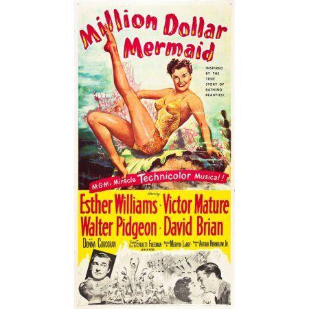 Million Dollar Mermaid Canvas Art - (24 x 36)