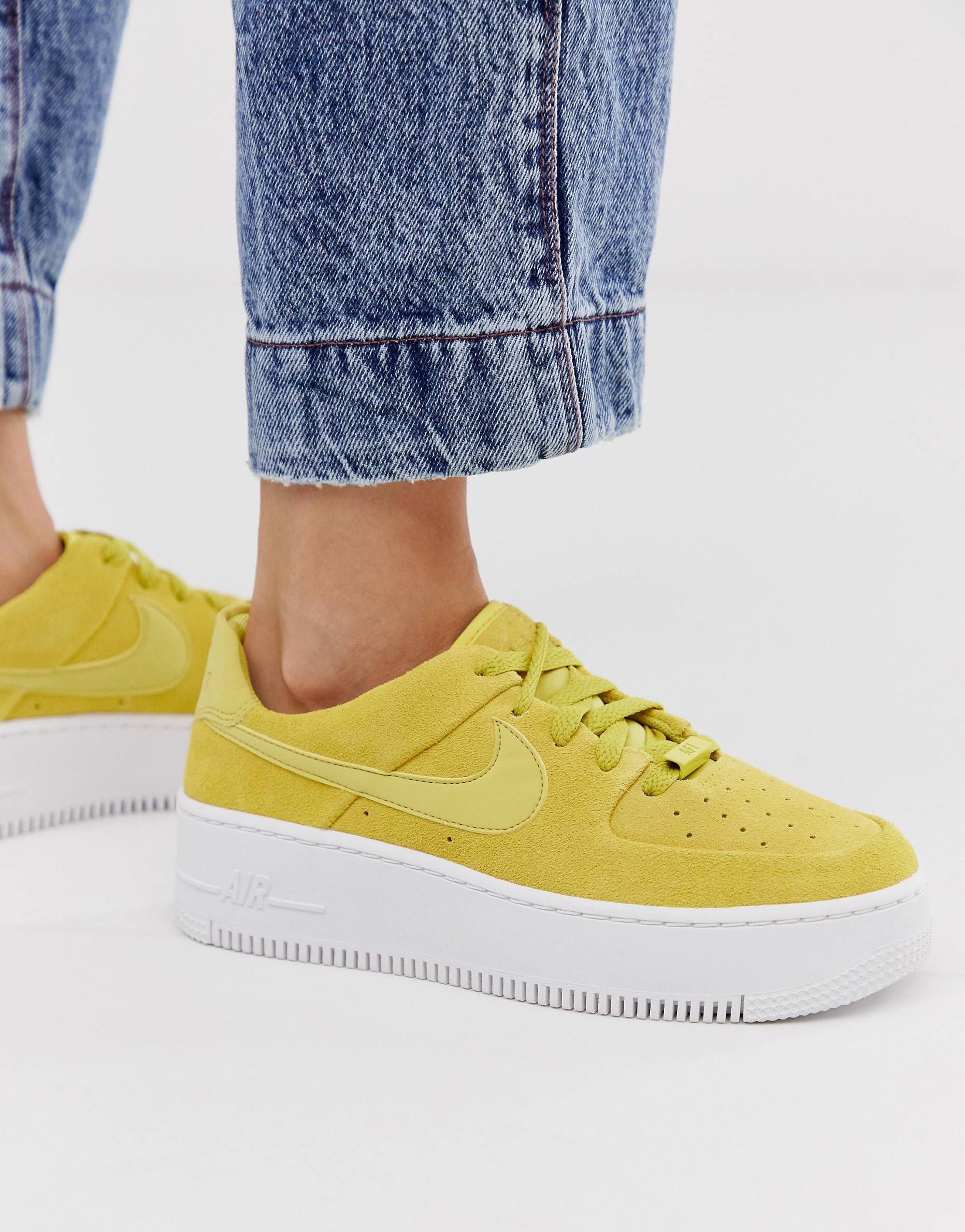 Nike Air Force 1 Sage Low 'Celery' Yellow For Sale