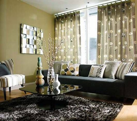 What Colour Curtains Go Best With A Dark Grey And Black Sofa Blur