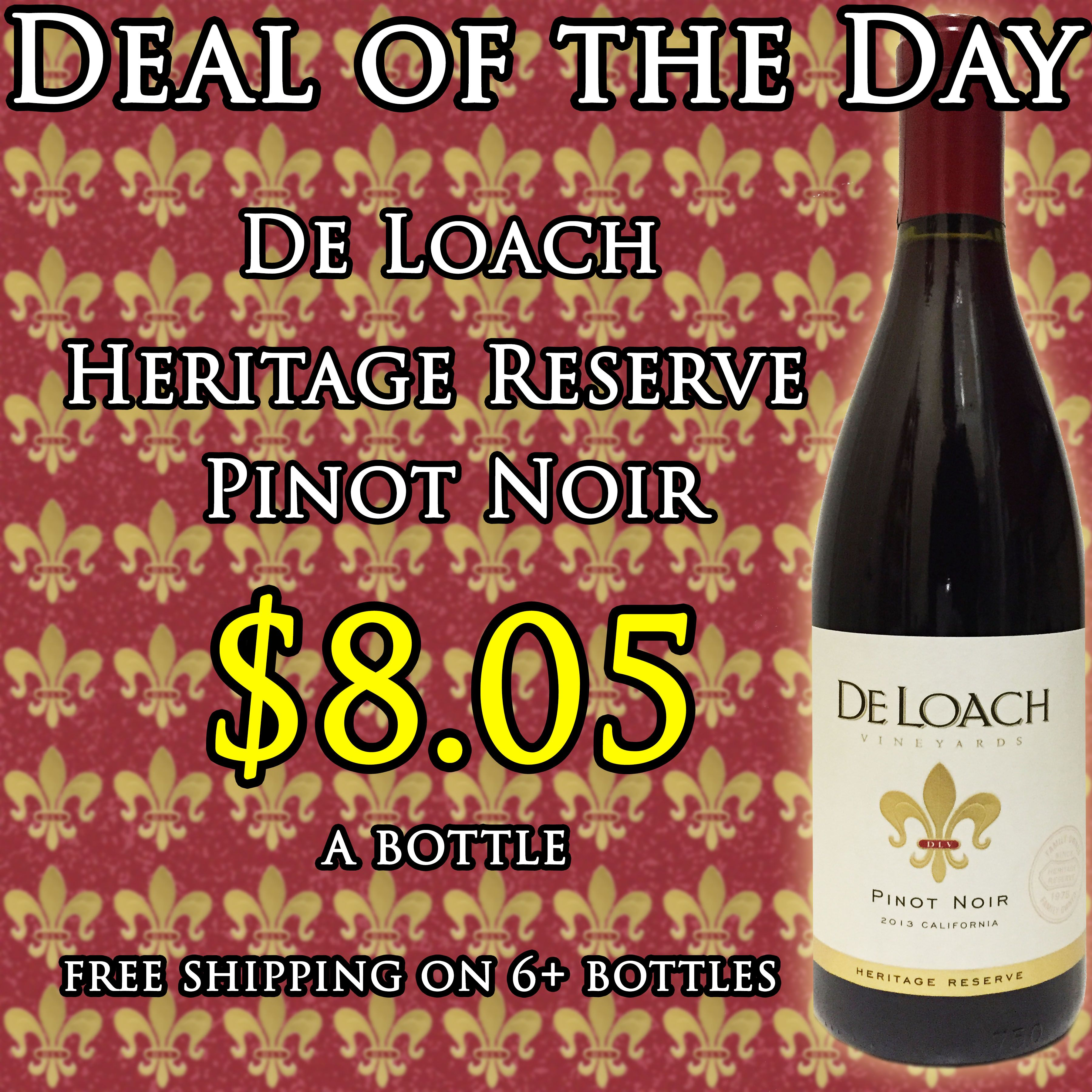 Deloach Heritage Reserve Pinot Noir 750ml Pinot Noir Pinot Wine Delivered