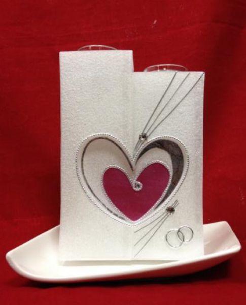 hochzeitskerzen modern mit teelichteins tze hearts. Black Bedroom Furniture Sets. Home Design Ideas