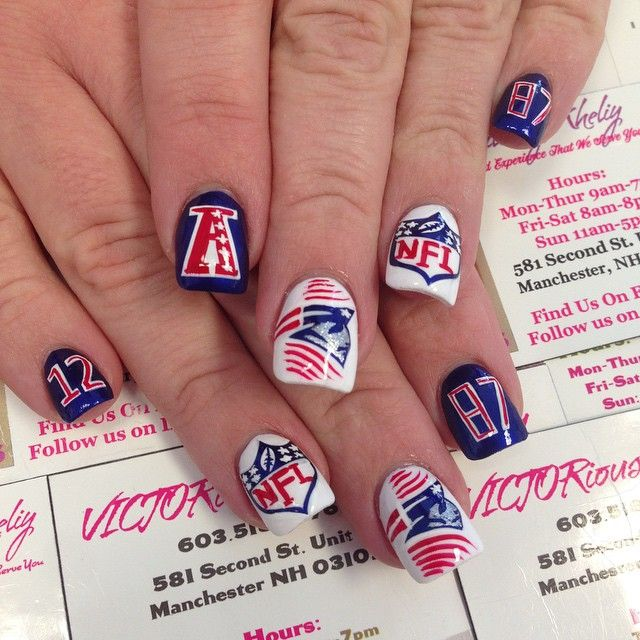 patriot nail art - Google Search   Nail ideas   Pinterest   Seahawks ...