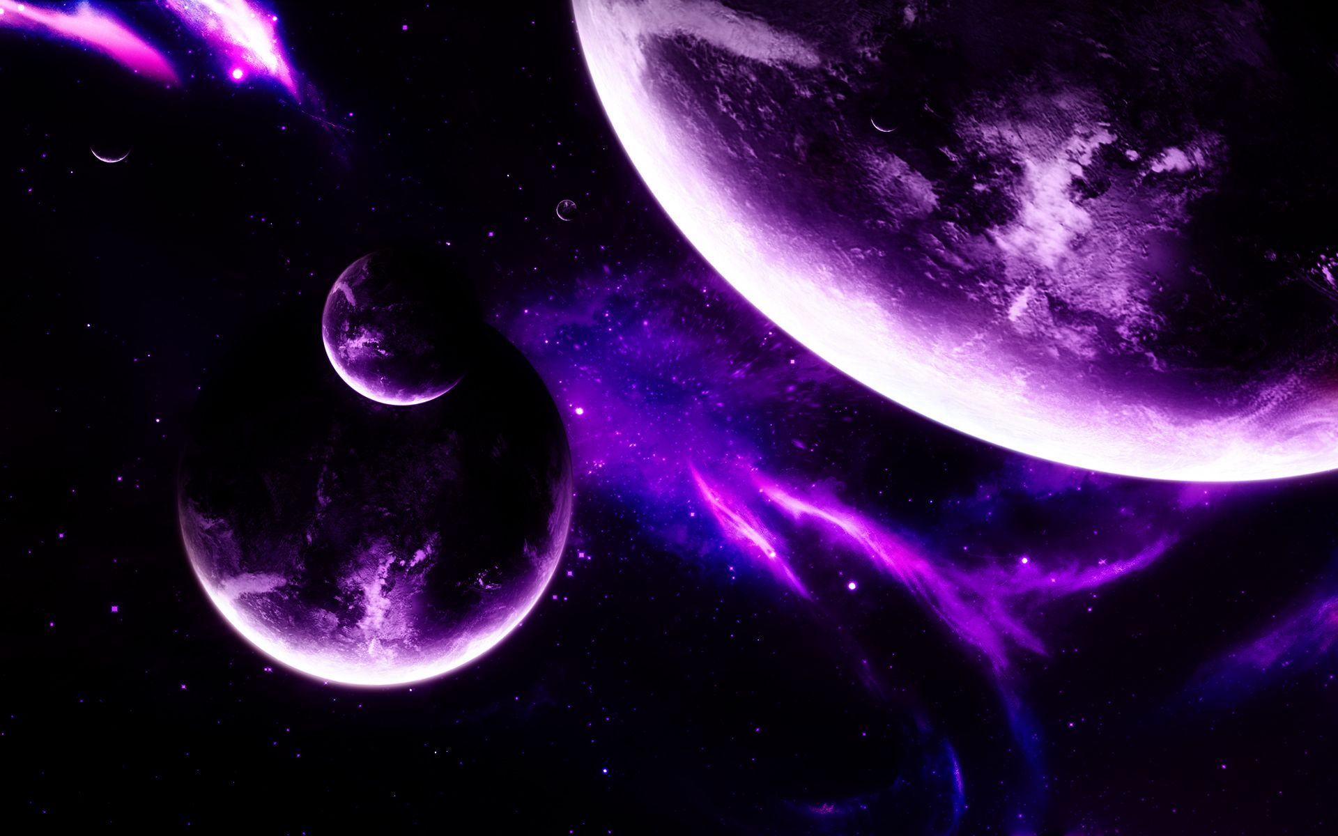 HD Purple Space Wallpaper