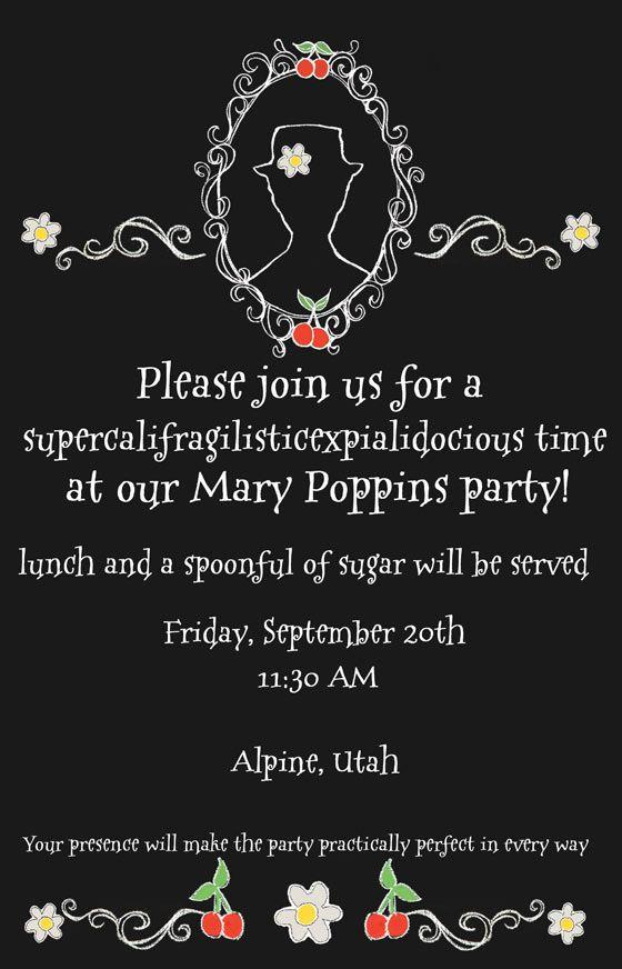 Mary poppins blogger luncheon recap party ideas pinterest mary mary poppins invitation design dazzle stopboris Images
