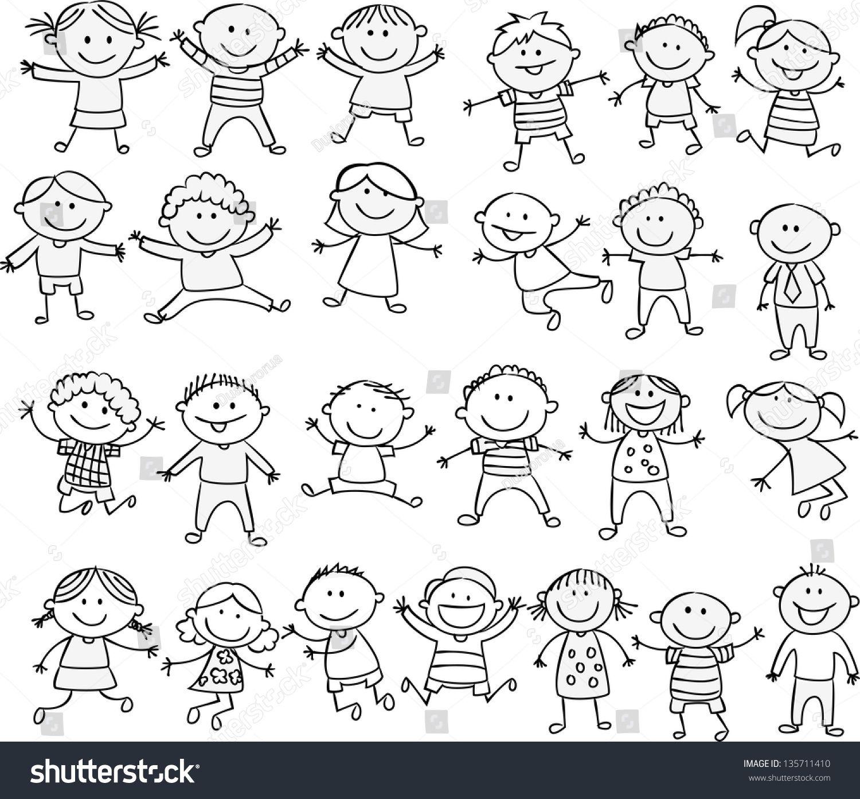 happy kid cartoon doodle collection | 時 閃 | pinterest | かわいい