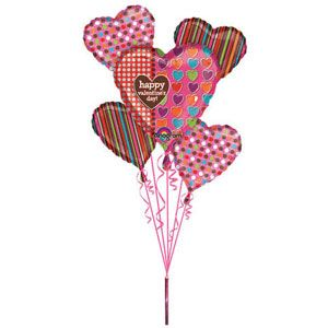 Valentine's Day Polka Dots Hearts & Stripes Bouquet