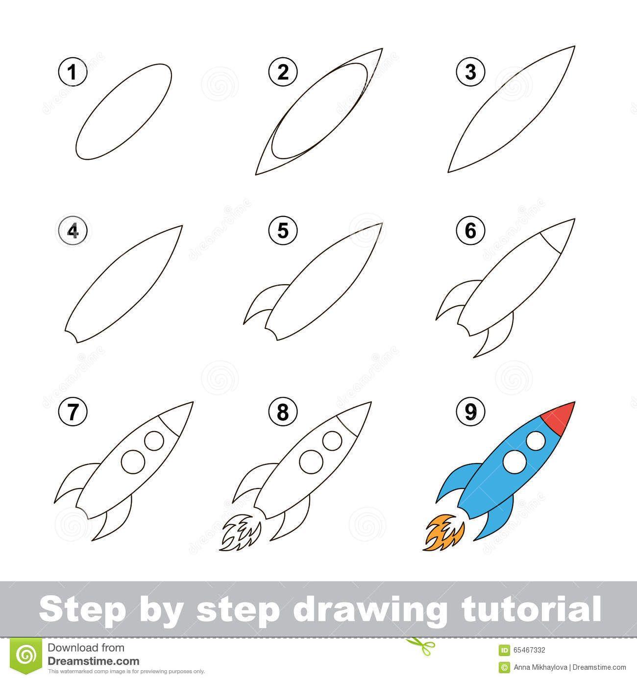 Rocket Drawing For Kids Pixshark