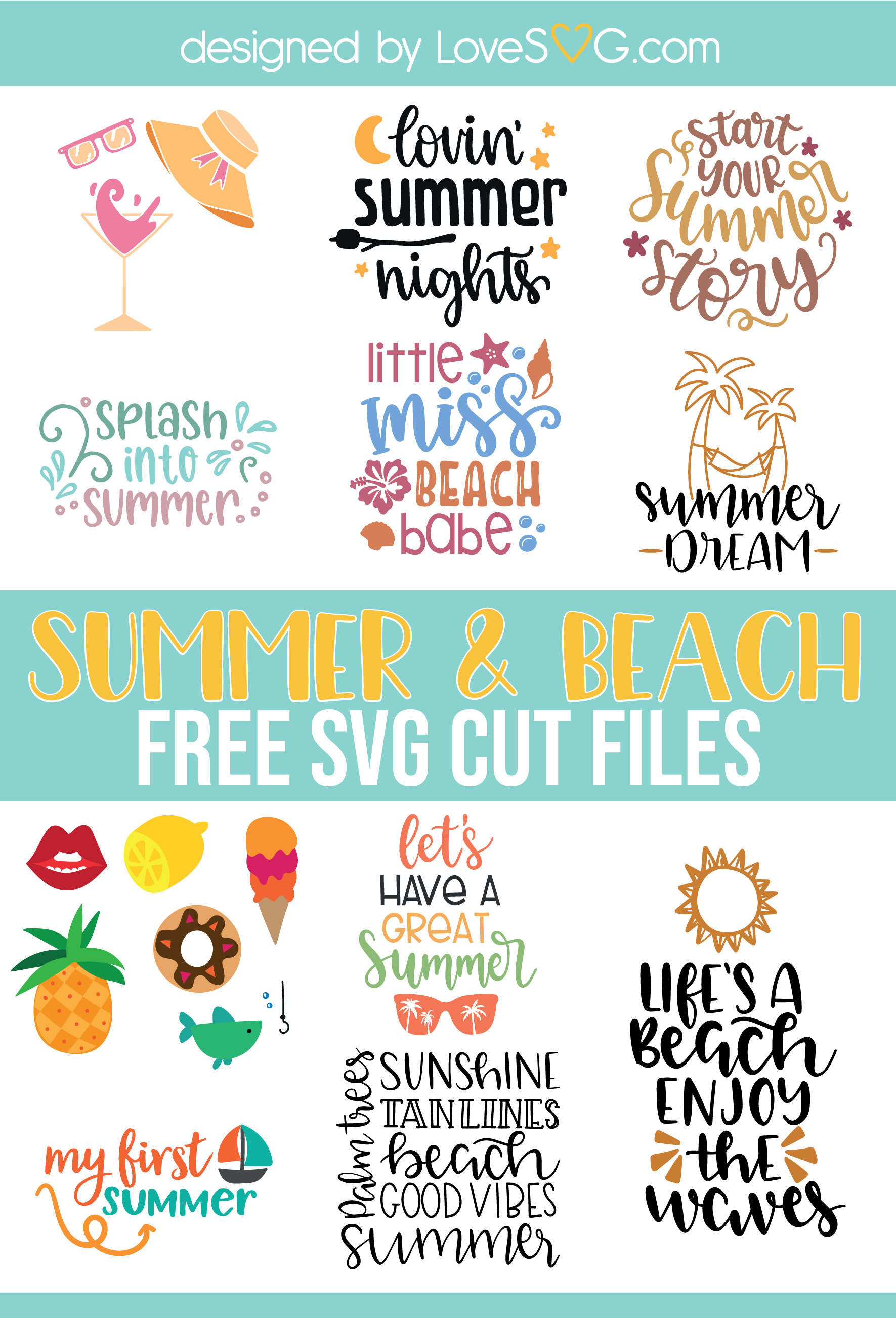 Pin by LoveSVG com | Free SVG Cut Files on Free Summer SVG