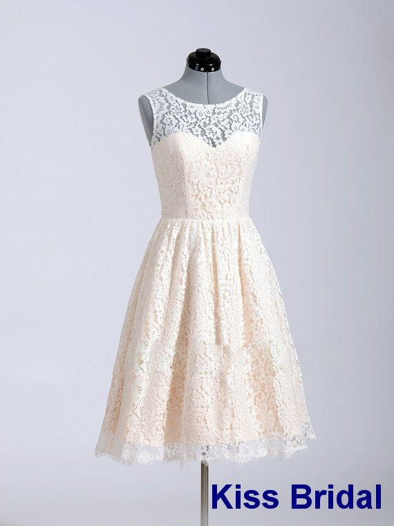 Lace homecoming dress with zipper back cocktail by kissbridal, $85.00