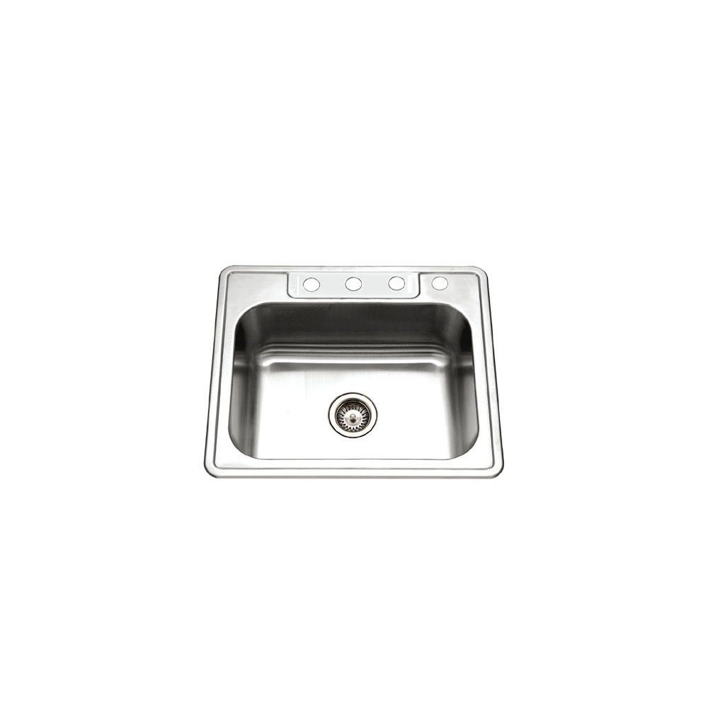 Plumbing Overstock - Houzer 2522-8BS4-1 Glowtone Series Top mount ...