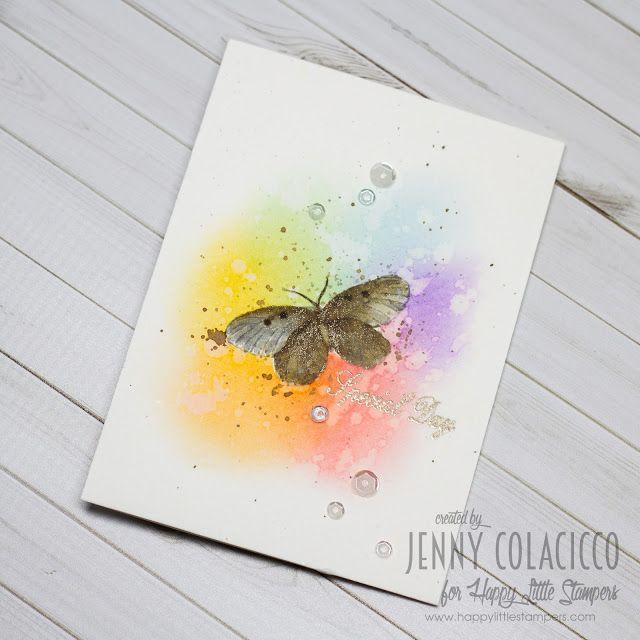 Craftmosh: Happy Little Stampers Watercolor Challenge - Rainbows!