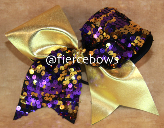 Cheer Bow by MyFierceBows on Etsy, $11.00